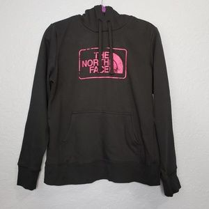 The North Face Pullover Hoodie with Pink Logo M